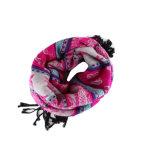 Изготовленный на заказ Yarnd покрасило смешанный жаккардом шарф женщин