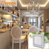 2W quadrado prateado Puck Luz para Utilização no Interior