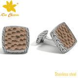 Cufflink-003 Wholesale geöffnete Entwurfs-Silber-Form-Metalhülsen-Taste