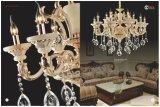 Jade-goldenes und weißes Kristallleuchter-Licht