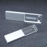 Azionamenti trasparenti acrilici del USB dell'azionamento 128MB 256MB 1GB 2GB 4GB 8GB 16GB dell'istantaneo del USB alla rinfusa con il prezzo di fabbrica chiaro del LED
