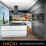 Uの形2 PAC指の引きデザインハイエンド品質(AP087)の白い食器棚