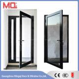 Moderner Entwurfs-Haupttür-Aluminiumflügelfenster-Tür mit Vorhängen