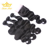 La onda del cuerpo humano indio virgen el cabello natural en color negro.