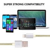 Datos de carga rápidos de la alta calidad que cargan el cable del USB para el iPhone del iPad