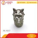 Venda a quente Cabeças Fox Prata metálico de artesanato de qualidade