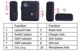 GSM Persoonlijke rf-V6+Tracker&Alarm In real time met Sos de Functie van het Alarm voor Auto/Kind/het Oudst