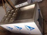 最も安く冷たい石造りの大理石の平板の上の揚げ物のアイスクリーム機械