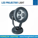 Nuevo tipo moderno proyector impermeable 3X2w 6W del LED