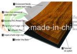 Plancher européen anti-corrosif imperméable à l'eau de cliquetis de PVC de vinyle de type
