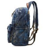 La maggior parte del zaino popolare del cuoio della tela di canapa per il sacchetto di banco di modo della ragazza