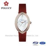 Montres de cuir de montres de dames de bracelet de montre de mode pour des femmes