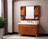 Floor-Mounted Eichen-Holz-gesundheitliche Ware-Badezimmer-Eitelkeit