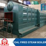 A baixa pressão do cilindro dobro Corrente-Raspa a caldeira de vapor de carvão pequeno