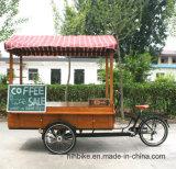 De aangepaste Elektrische Fiets Met drie wielen van de Koffie van de Kar van de Verkoop van de Koffie van het Snelle Voedsel