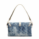 Os rebites de costura elegante Senhora Denim Crossbody Bag (MBNO040032)