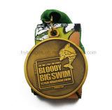 медаль марафона 3D идущее, большое медаль Swim (GZHY-MEDAL-001)