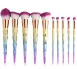 Nuovo insieme di spazzole di trucco dell'unicorno 10PCS del Rainbow