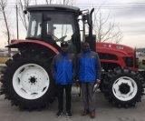 80HP 90HP 100HP 120HPの交互計算小屋の前部ローダーが付いている150HPによって動かされる農業の農場トラクター