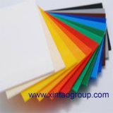 변색한 아크릴 장 색깔에 의하여 바뀐 아크릴 장은 또는 PMMA 장을 변색한다