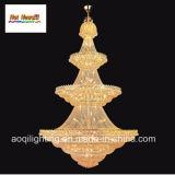 Lâmpada Pendent de cristal do projeto dourado (AQ7038)