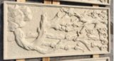 가정 훈장을%s Relievo 동상 벽 도와를 새기는 사암