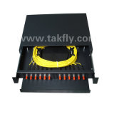 Sc/St/FC/LC 12 Ports Fiber Optic Patch Panel Optical Rack Mounted ODF
