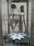 Máquina de rellenar del tarro rotatorio con la pesa de chequeo en línea