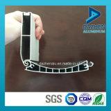 Profil en aluminium d'extrusion de guichet de porte d'obturateur de rouleau avec anodisé