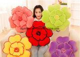 多彩な3D形のプラシ天の花の枕