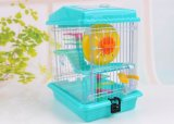 Double luxe Pet Protection de l'environnement Plastic Wire Door House Hamster Cage