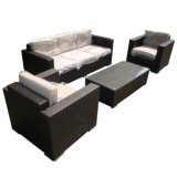 Dining Loisirs Outdoor Garden Furniture Rattan Wicker Lounge Combinaison Canapé avec verre