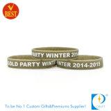 Wristband di stampa del silicone segmentato abitudine per il regalo