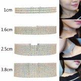 De Juwelen van het Huwelijk van de Vrouwen van de Halsband van de Nauwsluitende halsketting van de Diamant van het Kristal van Bling van de Vrouwen van de Luxe van de manier