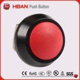 interruttore di pulsante rosso momentaneo capo a cupola di 12mm