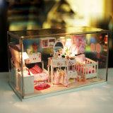 Mini modelo de madeira Handmade da casa de boneca