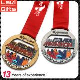 Medaglia giapponese di maratona del nuovo oro su ordinazione di disegno