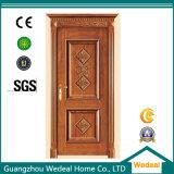 Porta dupla principal porta de sólidos de madeira para hotéis