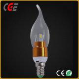 2700KはセリウムのRoHSの証明LEDランプが付いている白いLED 5With7W LEDの蝋燭の球根を暖める