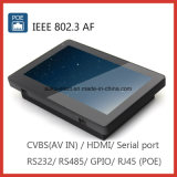 7インチのPoeまたはWiFi/Bluetoothの壁に取り付けられた人間の特徴をもつタブレットのパソコン