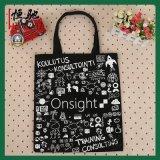 Logo personnalisé cadeau promotionnel pliable fourre-tout sac shopping en toile de coton