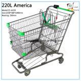 220L América do carrinho de compras de estilo