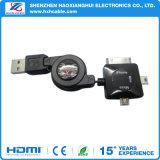 Micro chargeur rapide rétractable 3 en 1 Micro / Mini / pour câble USB iPhone4