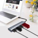 4 Kanäle USB 3.1 Typ-c zu Naben-Aluminiumentwurf USB-3.0 Multifunktions-USB
