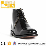 Schwarze gute Abnützung-echtes Leder-neue Art-Polizei-Büro-Schuhe