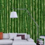 Guangzhou fábrica del precio bajo 3D diseño de bambú del papel pintado del PVC para el baño