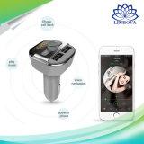 Bluetooth 핸즈프리 차 장비 이중 USB 3.4A 차 충전기 FM 전송기