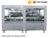 Автоматическое пиво стеклянной бутылки 3 in-1 делая заполняя линию сборки