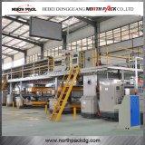 5 capas del papel acanalado de la cadena de producción automática