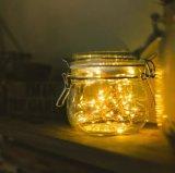 La stringa di rame di Dimmable illumina l'indicatore luminoso bianco caldo impermeabile della stringa di telecomando